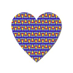 Seamless Prismatic Pythagorean Pattern Heart Magnet by Nexatart