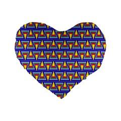 Seamless Prismatic Pythagorean Pattern Standard 16  Premium Heart Shape Cushions by Nexatart