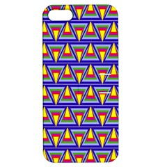 Seamless Prismatic Pythagorean Pattern Apple Iphone 5 Hardshell Case With Stand by Nexatart