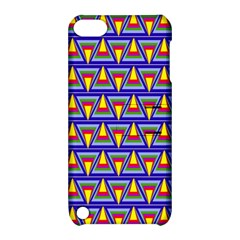 Seamless Prismatic Pythagorean Pattern Apple Ipod Touch 5 Hardshell Case With Stand by Nexatart