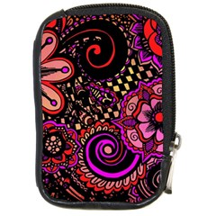 Sunset Floral Compact Camera Cases by Nexatart