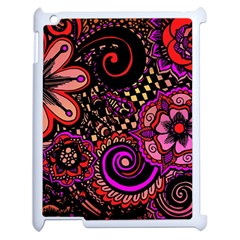 Sunset Floral Apple Ipad 2 Case (white) by Nexatart