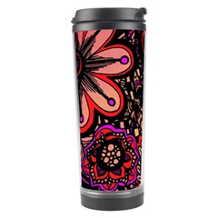 Sunset Floral Travel Tumbler by Nexatart