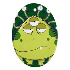 The Most Ugly Alien Ever Oval Ornament (two Sides) by Catifornia