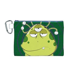 The Most Ugly Alien Ever Canvas Cosmetic Bag (m) by Catifornia