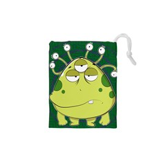 The Most Ugly Alien Ever Drawstring Pouches (xs)  by Catifornia
