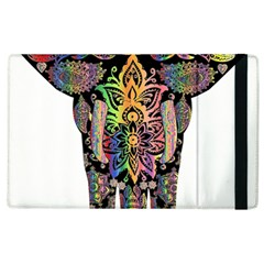 Prismatic Floral Pattern Elephant Apple Ipad 3/4 Flip Case by Nexatart