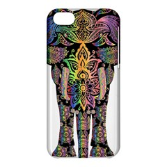 Prismatic Floral Pattern Elephant Apple Iphone 5c Hardshell Case by Nexatart