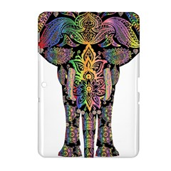 Prismatic Floral Pattern Elephant Samsung Galaxy Tab 2 (10 1 ) P5100 Hardshell Case  by Nexatart