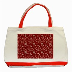 Merry Christmas Pattern Classic Tote Bag (red) by Nexatart