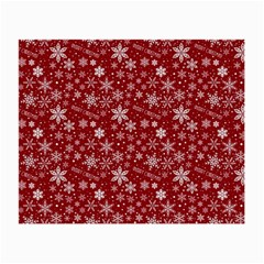 Merry Christmas Pattern Small Glasses Cloth (2 Side) by Nexatart