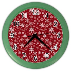 Merry Christmas Pattern Color Wall Clocks