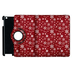 Merry Christmas Pattern Apple Ipad 2 Flip 360 Case by Nexatart