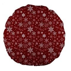 Merry Christmas Pattern Large 18  Premium Flano Round Cushions by Nexatart