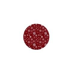 Merry Christmas Pattern 1  Mini Magnets by Nexatart