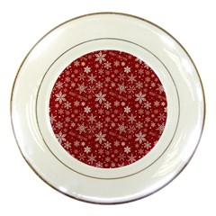 Merry Christmas Pattern Porcelain Plates by Nexatart