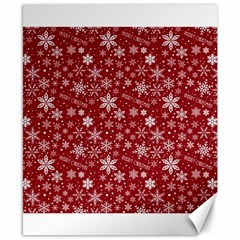 Merry Christmas Pattern Canvas 8  X 10  by Nexatart