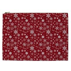 Merry Christmas Pattern Cosmetic Bag (xxl)  by Nexatart