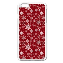 Merry Christmas Pattern Apple Iphone 6 Plus/6s Plus Enamel White Case by Nexatart