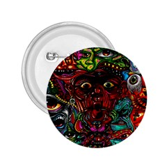 Abstract Psychedelic Face Nightmare Eyes Font Horror Fantasy Artwork 2 25  Buttons by Nexatart