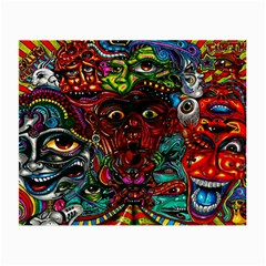 Abstract Psychedelic Face Nightmare Eyes Font Horror Fantasy Artwork Small Glasses Cloth by Nexatart