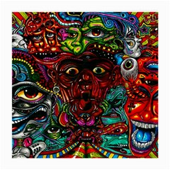 Abstract Psychedelic Face Nightmare Eyes Font Horror Fantasy Artwork Medium Glasses Cloth by Nexatart