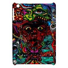Abstract Psychedelic Face Nightmare Eyes Font Horror Fantasy Artwork Apple Ipad Mini Hardshell Case by Nexatart