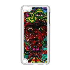 Abstract Psychedelic Face Nightmare Eyes Font Horror Fantasy Artwork Apple Ipod Touch 5 Case (white) by Nexatart