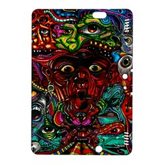 Abstract Psychedelic Face Nightmare Eyes Font Horror Fantasy Artwork Kindle Fire Hdx 8 9  Hardshell Case by Nexatart