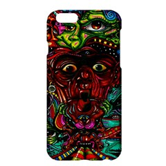Abstract Psychedelic Face Nightmare Eyes Font Horror Fantasy Artwork Apple Iphone 6 Plus/6s Plus Hardshell Case by Nexatart