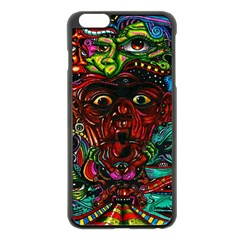 Abstract Psychedelic Face Nightmare Eyes Font Horror Fantasy Artwork Apple Iphone 6 Plus/6s Plus Black Enamel Case by Nexatart