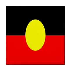 Flag Of Australian Aborigines Tile Coasters by Nexatart