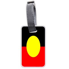 Flag Of Australian Aborigines Luggage Tags (two Sides) by Nexatart
