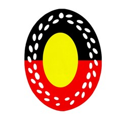 Flag Of Australian Aborigines Ornament (oval Filigree) by Nexatart
