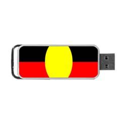 Flag Of Australian Aborigines Portable Usb Flash (two Sides) by Nexatart