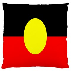 Flag Of Australian Aborigines Large Flano Cushion Case (two Sides) by Nexatart