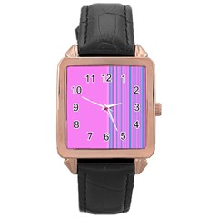 Lines Rose Gold Leather Watch  by ValentinaDesign