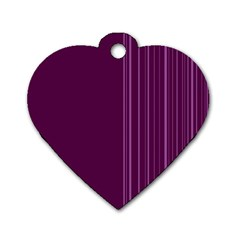 Lines Dog Tag Heart (one Side) by ValentinaDesign