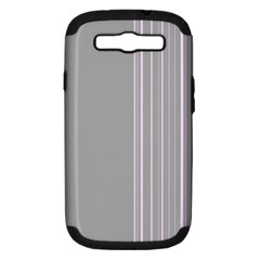 Lines Samsung Galaxy S Iii Hardshell Case (pc+silicone) by ValentinaDesign