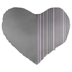 Lines Large 19  Premium Heart Shape Cushions by ValentinaDesign