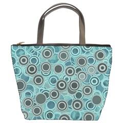 Abstract Aquatic Dream Bucket Bags by Ivana