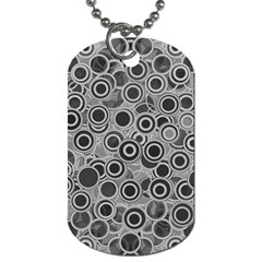 Abstract Grey End Of Day Dog Tag (two Sides) by Ivana
