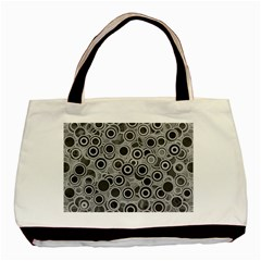 Abstract Grey End Of Day Basic Tote Bag by Ivana