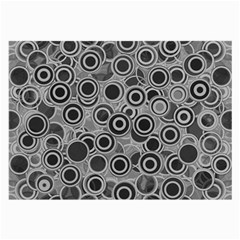Abstract Grey End Of Day Large Glasses Cloth (2 Side) by Ivana