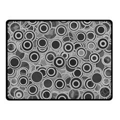 Abstract Grey End Of Day Fleece Blanket (small) by Ivana