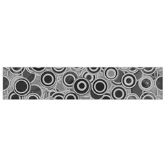 Abstract Grey End Of Day Flano Scarf (small) by Ivana