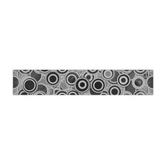 Abstract Grey End Of Day Flano Scarf (mini) by Ivana