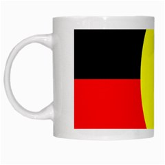 Flag Of Australian Aborigines White Mugs by Nexatart