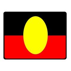 Flag Of Australian Aborigines Fleece Blanket (small) by Nexatart