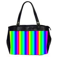 Rainbow Gradient Office Handbags (2 Sides)  by Nexatart